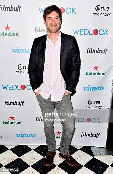 Actor Mark Duplass attends the screening party for Vimeo On Demand's New WebSeries Wedlock at The Ace Hotel on September 25 2014 in Downtown Los...