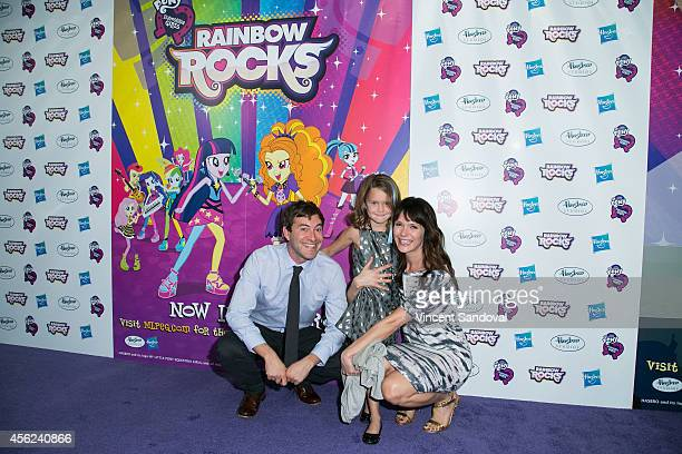 Actor Mark Duplass daughter Ora Duplass and wife Katie Aselton attend the Los Angeles special screening of My Little Pony Equestria Girls Rainbow...