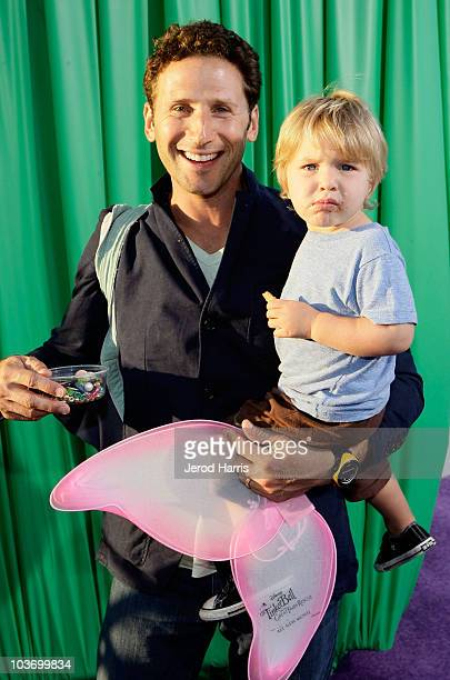 Actor Mark Feuerstein and son Frisco attend Picnic In The Park for Tinker Bell And The Great Fairy Rescue at La Cienega Park on August 28 2010 in...