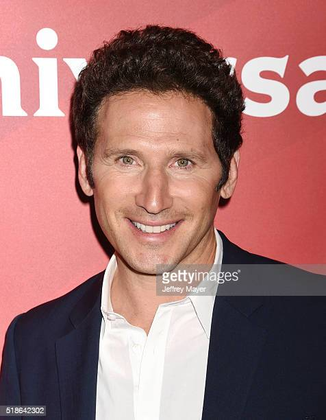 Actor Mark Feuerstein arrives at the 2016 Summer TCA Tour NBCUniversal Press Tour at the Four Seasons Hotel Westlake Village on April 1 2016 in...