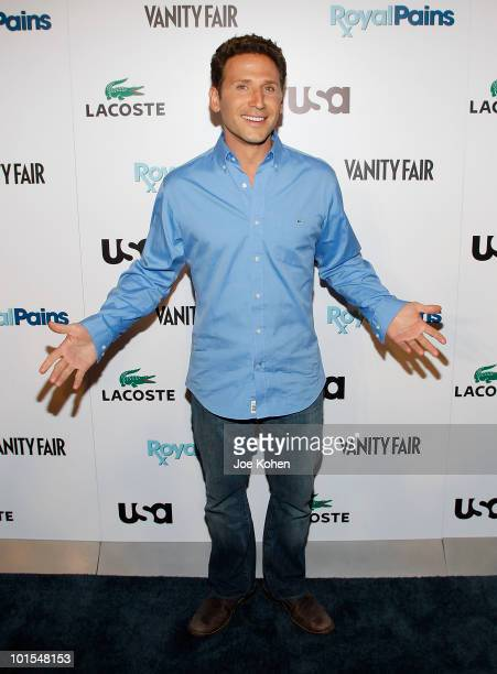 Actor Mark Feuerstein arrives at the USA Network and Vanity Fair Royal Pains Season Two kick off event at Lacoste Fifth Avenue Boutique on June 1...