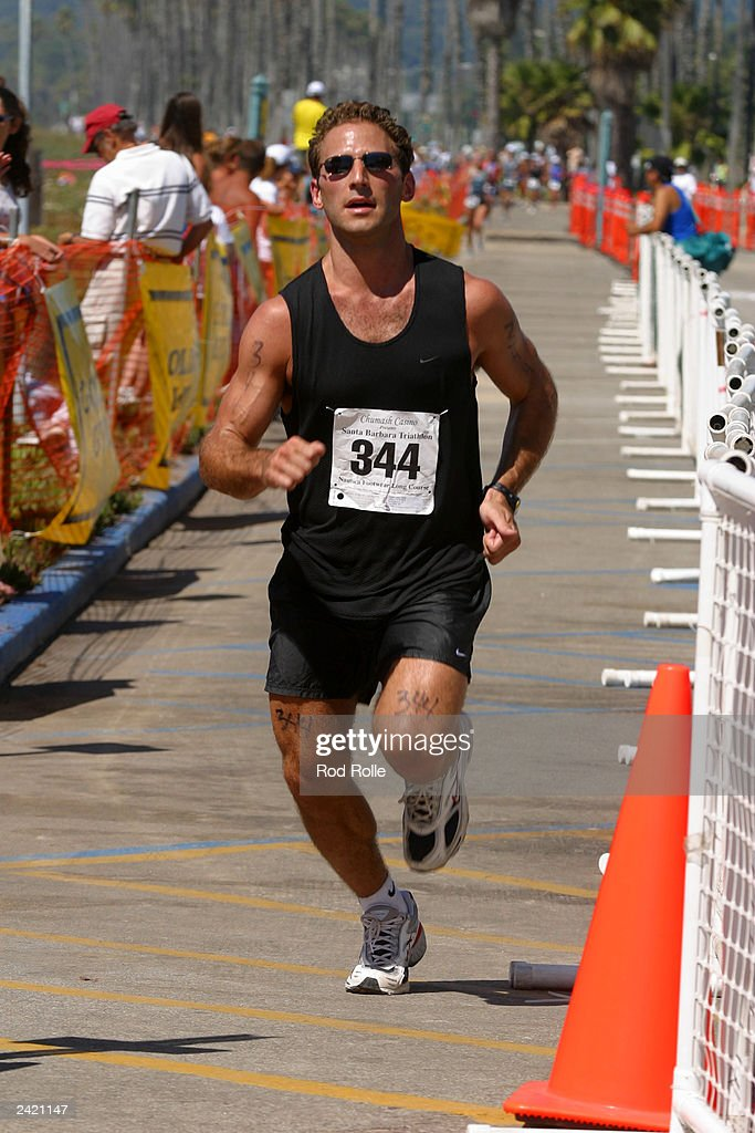 Actor Mark Feuerstein, as he completes the third leg of the