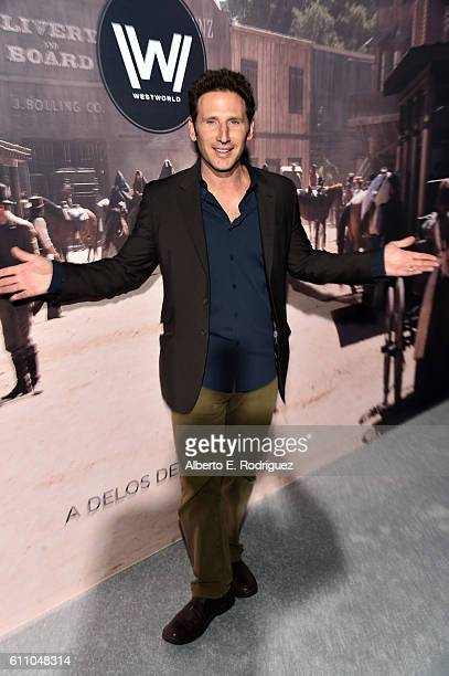 Actor Mark Feuerstein attends the premiere of HBO's Westworld at TCL Chinese Theatre on September 28 2016 in Hollywood California