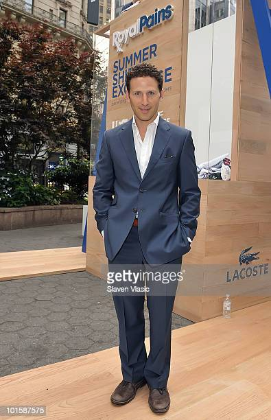 Actor Mark Feuerstein of USA Network's Royal Pains attends the Royal Pains Summer Shirt Exchange benefitting Doctors Without Borders in Greeley...