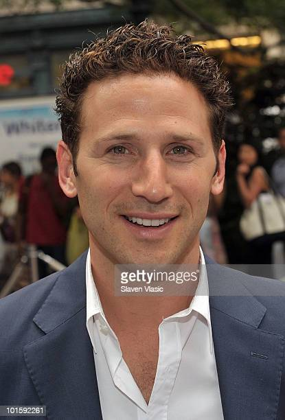 Actor Mark Feuerstein of USA Network's Royal Pains attends the Royal Pains Summer Shirt Exchange to benefit Doctors Without Borders in Greeley Square...
