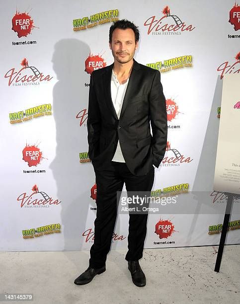 "Actor Mark Gantt arrives for the cast/crew Screening Of ""Among Friends"" held at the Jon Lovitz Comedy Club on April 17, 2012 in Universal City,..."
