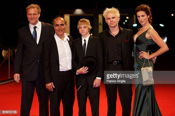 Actor Mark Greenfield director Amir Naderi Zach Thomas guest and Nancy La Scala attend the Vegas Based on a True Story premiere at the Sala Grande...