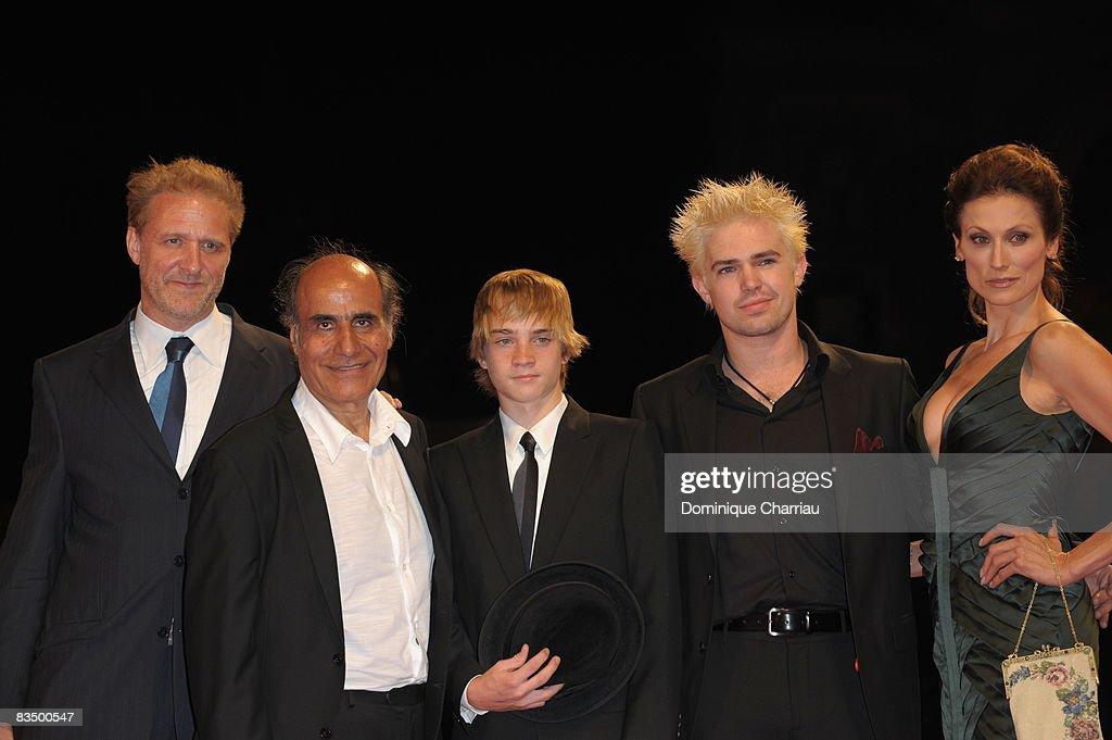 Actor Mark Greenfield, director Amir Naderi, Zach Thomas, guest and Nancy La Scala attend the 'Vegas Based on a True Story' premiere at the Sala Grande during the 65th Venice Film Festival on September 1, 2008 in Venice, Italy.