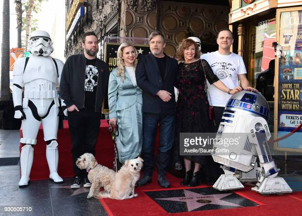 Actor Mark Hamill and family attend the ceremony honoring Mark Hamill with star on the Hollywood Walk of Fame on March 8 2018 in Hollywood California