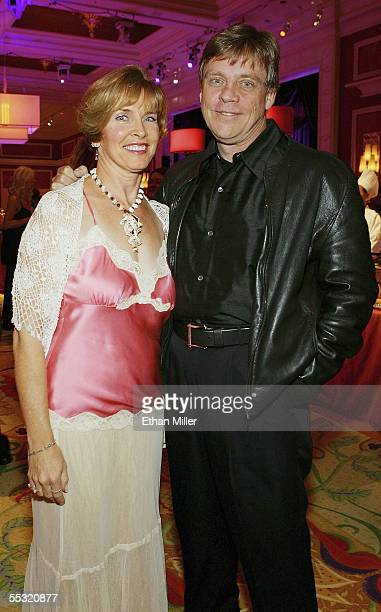 Actor Mark Hamill and his wife Marilou Hamill pose at the after party for the Las Vegas premiere of the Tony Awardwinning Broadway musical Avenue Q...