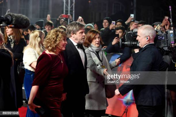 Actor Mark Hamill and his wife Marilou York attend the European Premiere of 'Star Wars: The Last Jedi' at Royal Albert Hall on December 12, 2017 in...