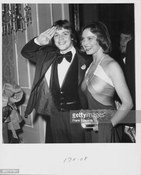 Actor Mark Hamill and his wife, Marilou York, attending the 35th Golden Globe Awards, California, January 1978.