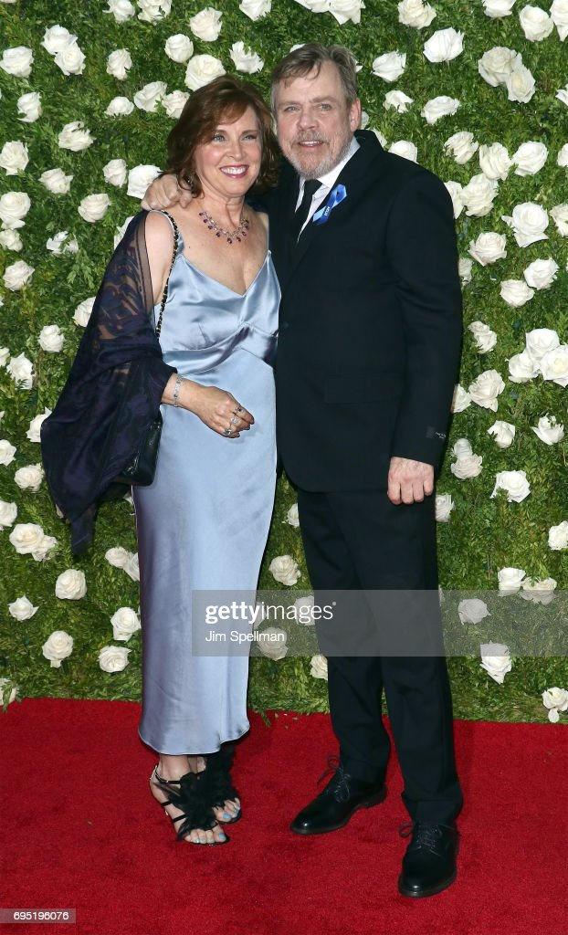 Actor Mark Hamill (R) and Marilou York attend the 71st Annual Tony Awards at Radio City Music Hall on June 11, 2017 in New York City.