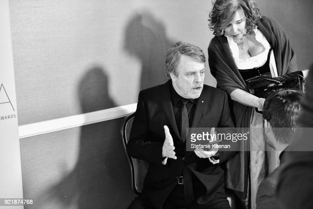 Actor Mark Hamill and Marilou York attend the Costume Designers Guild Awards at The Beverly Hilton Hotel on February 20 2018 in Beverly Hills...
