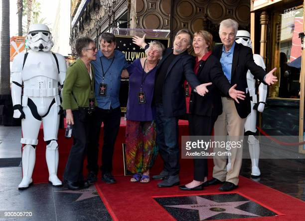 Actor Mark Hamill and siblings attend the ceremony honoring Mark Hamill with star on the Hollywood Walk of Fame on March 8 2018 in Hollywood...