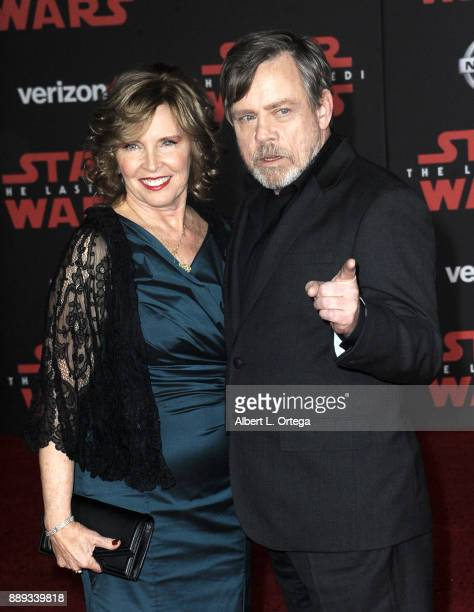 Actor Mark Hamill and wife Marilou Hamill arrive for the Premiere Of Disney Pictures And Lucasfilm's Star Wars The Last Jedi held at The Shrine...