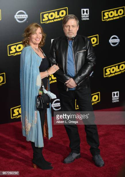 Actor Mark Hamill and wife Marilou York arrive for the Premiere Of Disney Pictures And Lucasfilm's 'Solo A Star Wars Story' held on May 10 2018 in...