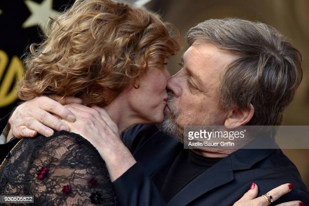 Actor Mark Hamill and wife Marilou York attend the ceremony honoring Mark Hamill with star on the Hollywood Walk of Fame on March 8 2018 in Hollywood...