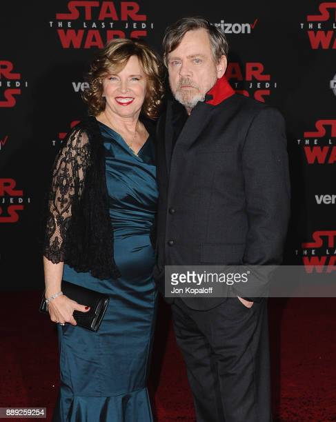 "Actor Mark Hamill and wife Marilou York attend the Los Angeles Premiere ""Star Wars: The Last Jedi"" at The Shrine Auditorium on December 9, 2017 in..."
