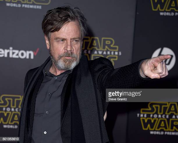 Actor Mark Hamill arrives at the premiere of Walt Disney Pictures' and Lucasfilm's 'Star Wars The Force Awakens' at the Dolby Theatre TCL Chinese...
