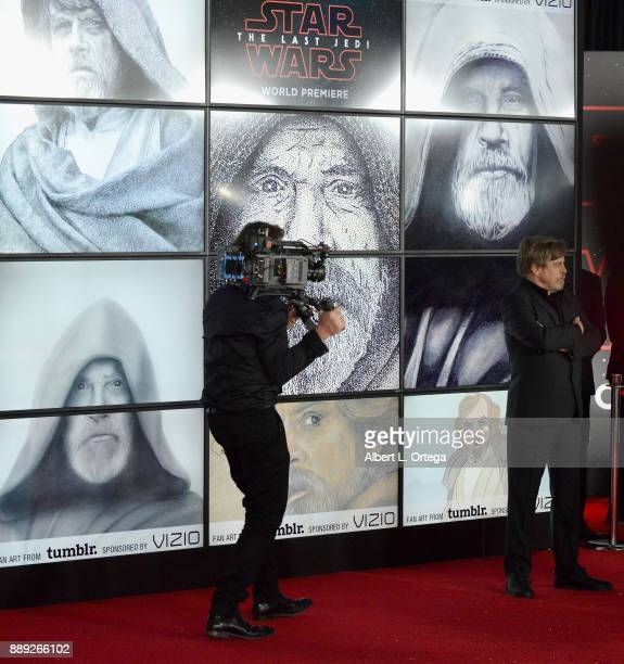 Actor Mark Hamill arrives for the Premiere Of Disney Pictures And Lucasfilm's 'Star Wars The Last Jedi' held at The Shrine Auditorium on December 9...