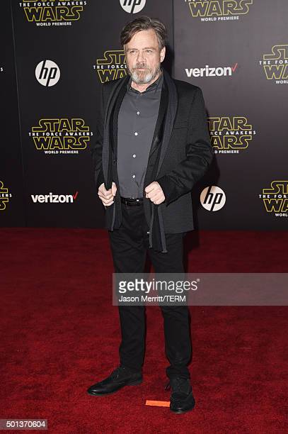 Actor Mark Hamill attends Premiere of Walt Disney Pictures and Lucasfilm's 'Star Wars The Force Awakens' on December 14 2015 in Hollywood California