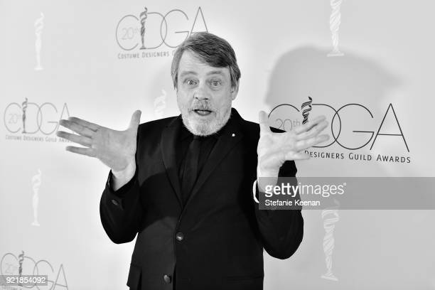 Actor Mark Hamill attends the Costume Designers Guild Awards at The Beverly Hilton Hotel on February 20 2018 in Beverly Hills California