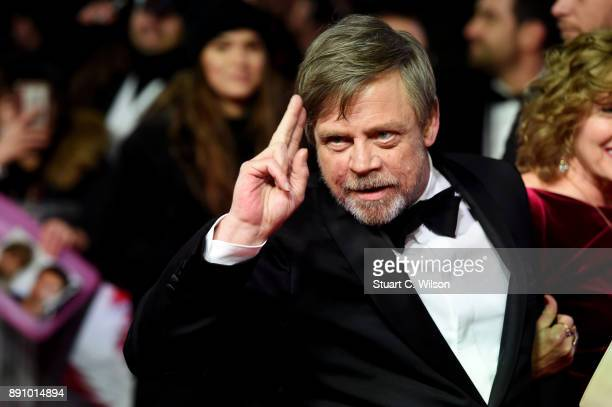 Actor Mark Hamill attends the European Premiere of 'Star Wars The Last Jedi' at Royal Albert Hall on December 12 2017 in London England