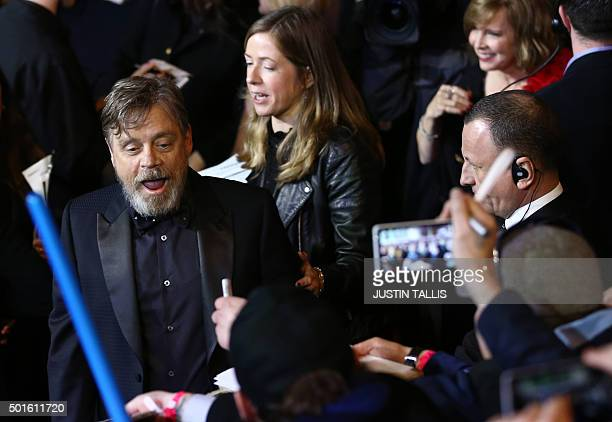 US actor Mark Hamill attends the opening of the European Premiere of 'Star Wars The Force Awakens' in central London on December 16 2015 Ever since...