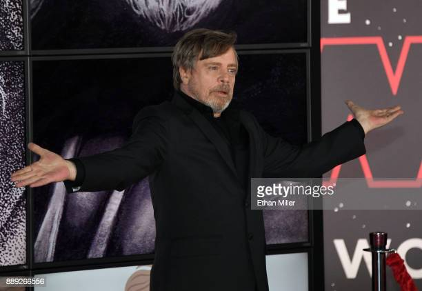 Actor Mark Hamill attends the premiere of Disney Pictures and Lucasfilm's 'Star Wars The Last Jedi' at The Shrine Auditorium on December 9 2017 in...