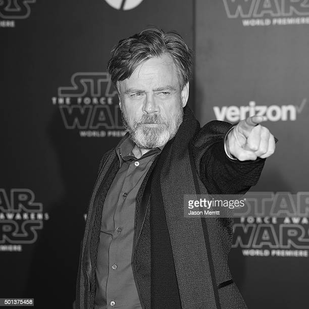 Actor Mark Hamill attends The Premiere of Walt Disney Pictures and Lucasfilm's Star Wars The Force Awakens on December 14 2015 in Hollywood California