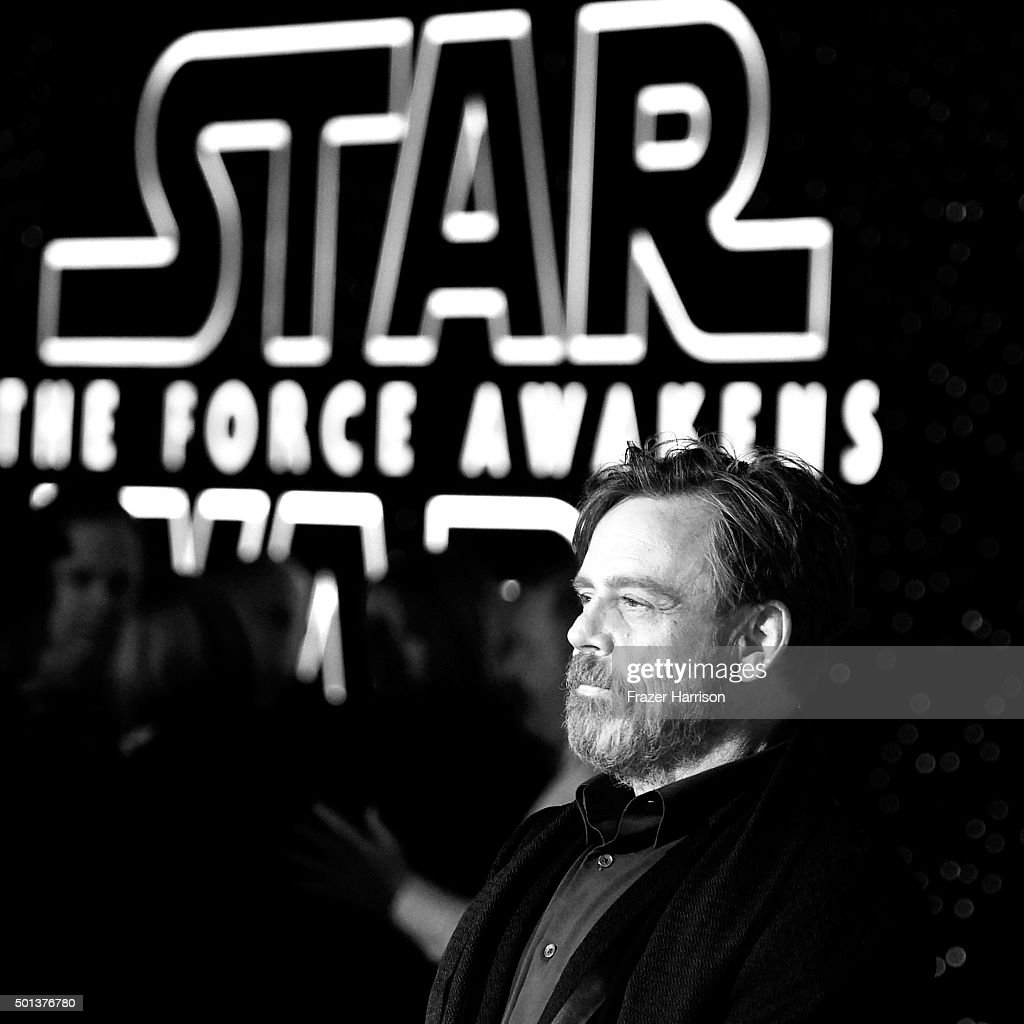 Actor Mark Hamill attends The Premiere of Walt Disney Pictures and Lucasfilm's 'Star Wars: The Force Awakens' on December 14, 2015 in Hollywood, California.