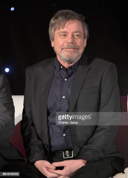 Actor Mark Hamill attends the press conference for the highly anticipated Star Wars The Last Jedi at InterContinental Los Angeles on December 3 2017...