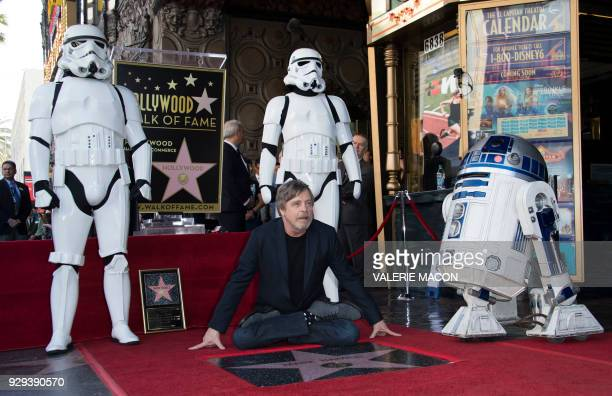 Actor Mark Hamill is honored with a star on the Hollywood Walk of Fame on March 8 in Hollywood California / AFP PHOTO / VALERIE MACON