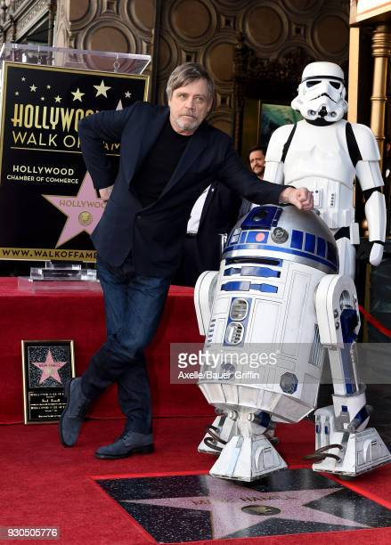 Actor Mark Hamill is honored with star on the Hollywood Walk of Fame on March 8 2018 in Hollywood California
