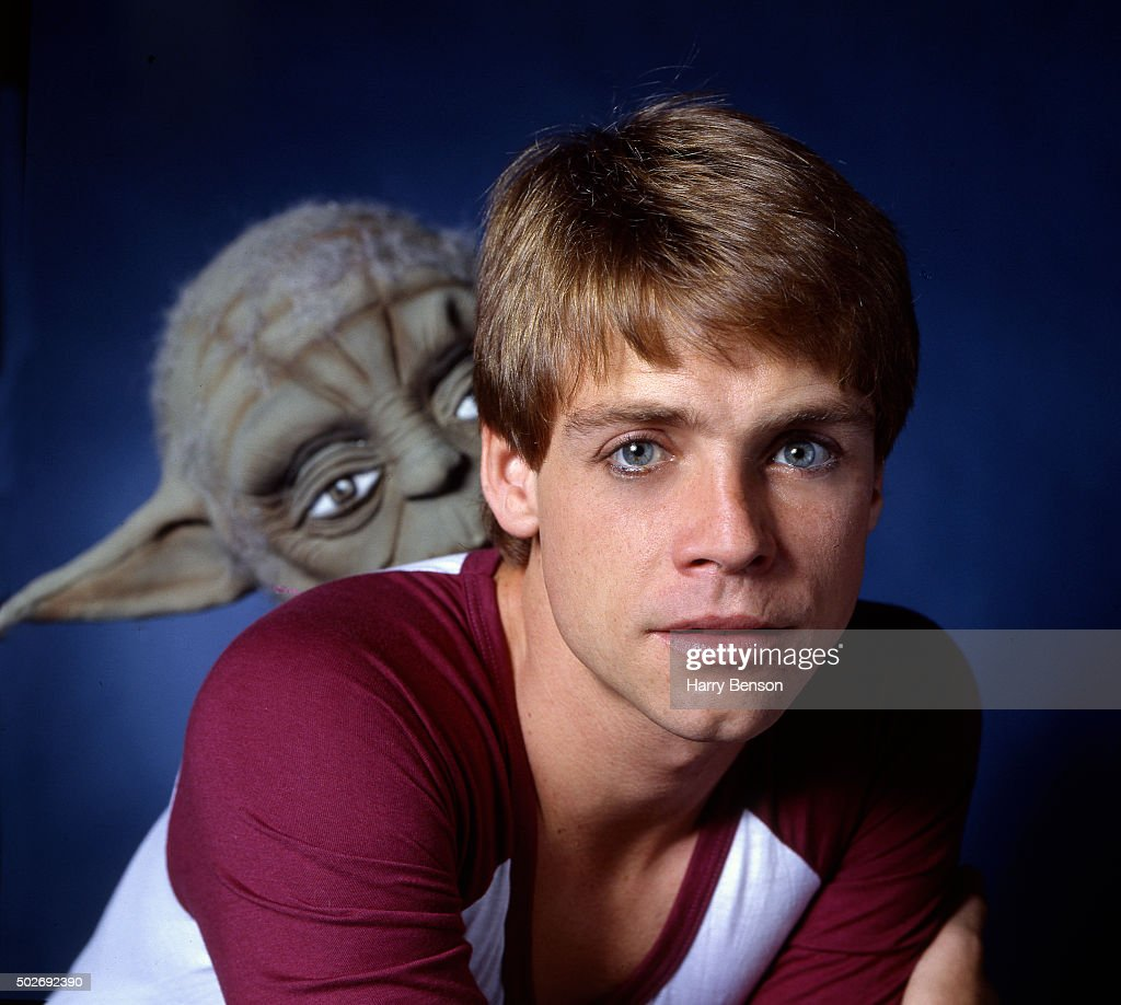 Actor Mark Hamill is photographed with Yoda for People Magazine in 1981 in New York City.