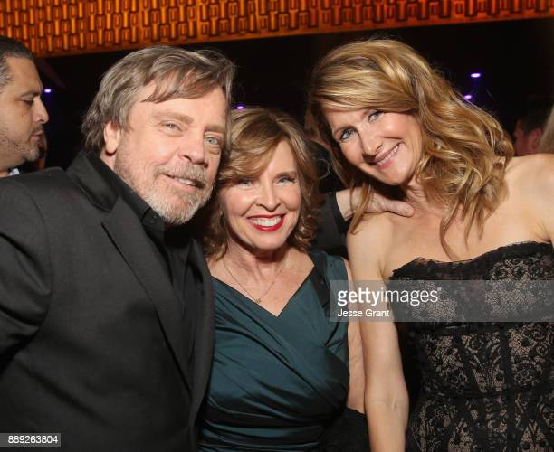 Actor Mark Hamill Marilou York and Actor Laura Dern at the world premiere of Lucasfilm's Star Wars The Last Jedi at The Shrine Auditorium on December...