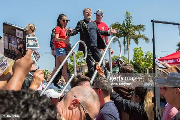 Actor Mark Hamill of Star Wars leaves a ceremony dedicating Mark Hamill Drive on July 30 2017 in San Diego California