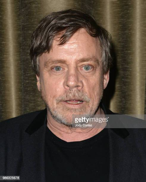 Actor Mark Hamill poses backstage at the Academy Of Science Fiction Fantasy Horror Films' 44th Annual Saturn Awards held at The Castaway on June 27...