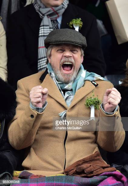 Actor Mark Hamill watches on as the annual Saint Patrick's day parade takes place on March 17 2018 in Dublin Ireland Dublin hosts the largest Saint...