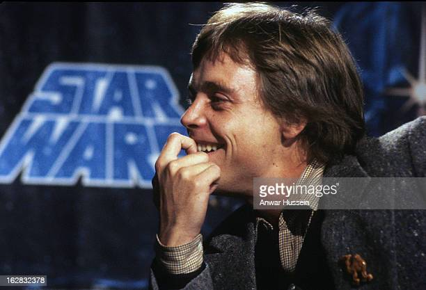Actor Mark Hamill who plays Luke Skywalker in Star Wars during a visit to London on January 11979 in London England