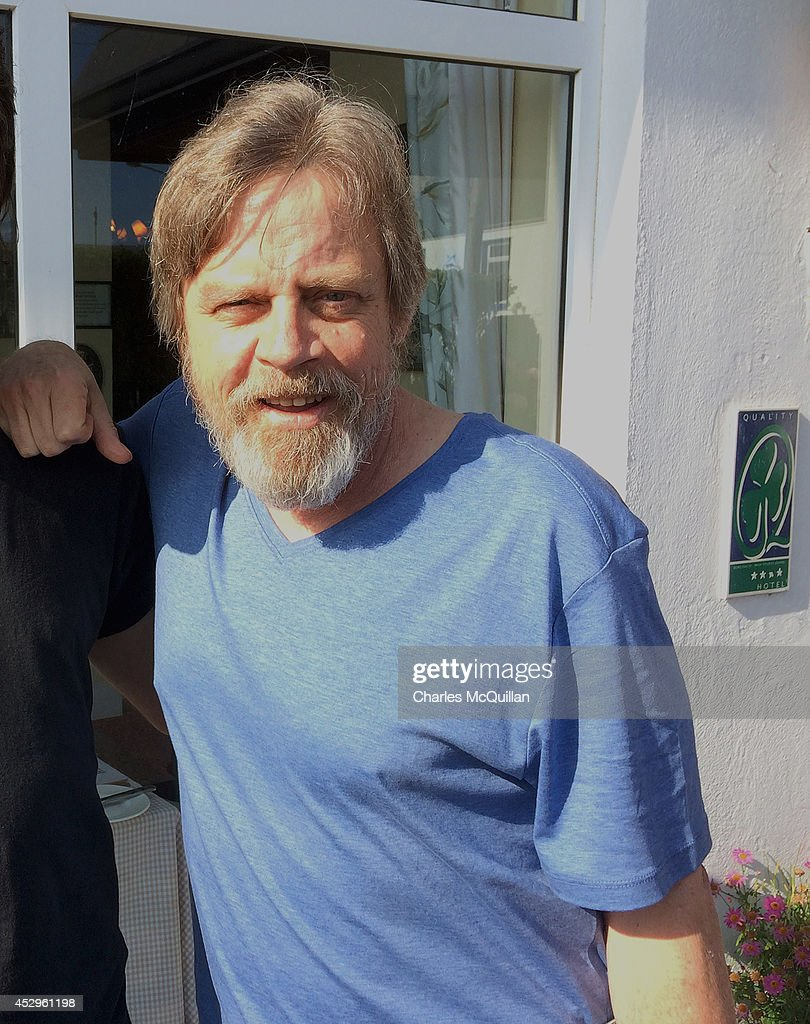 Actor Mark Hamill who plays Luke Skywalker poses for a photograph as Star Wars Episode VII continues filming on July 30, 2014 in Waterville, County Kerry, Ireland.