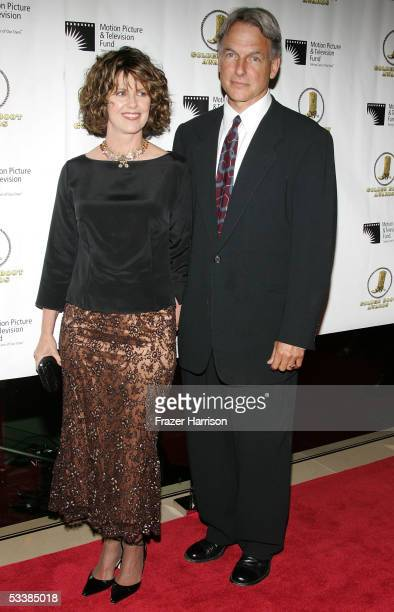 Actor Mark Harmon and wife actress Pam Dawber attend the Golden Boot Awards held at the Beverly Hilton Hotel on August 13 2005 in Beverly Hills...