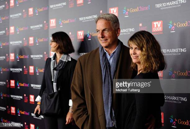 Actor Mark Harmon arrives with wife Pam Dawber at TV Guide magazine's Annual Hot List Party at Greystone Mansion Supperclub on November 7 2011 in...