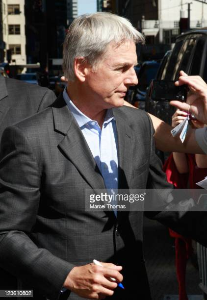 Actor Mark Harmon is seen departing the 'Late Show With David Letterman' at the Ed Sullivan Theater on May 10 2011 in New York City