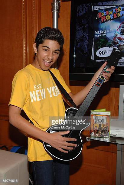 Actor Mark Indelicato poses at Guitar Hero III during the Fifth Annual LUCKY CLUB on May 13 2008 in New York City