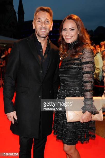 Actor Mark Keller and actress Sarah Maria Besgen during the 100th birthday celebration gala for Artur Brauner at Zoo Palast on September 8 2018 in...