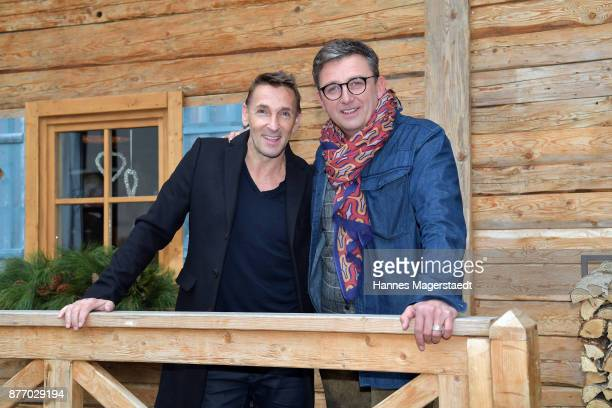 Actor Mark Keller and Hans Sigl during the 10th anniversary celebration of 'Der Bergdoktor' on November 21 2017 in Munich Germany