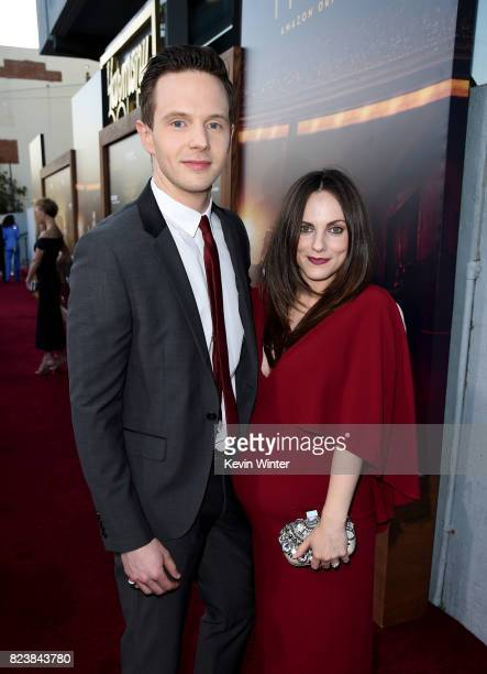 Actor Mark O'Brien and his wife Georgina Reilly arrive at the premiere of Amazon Studios' 'The Last Tycoon' at the Harmony Theatre on July 27 2017 in...