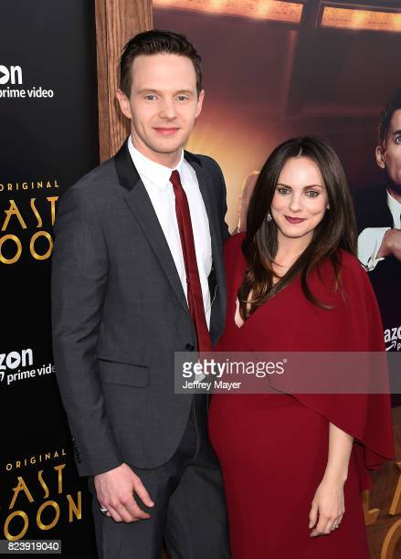 Actor Mark O'Brien and wife Georgina Reilly arrive at the Premiere Of Amazon Studios' 'The Last Tycoon' at the Harmony Gold Preview House and Theater...